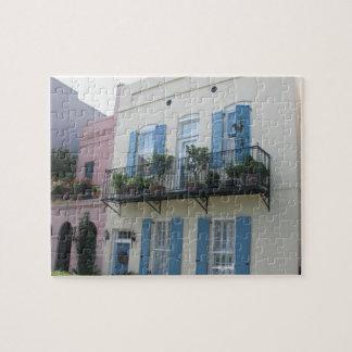 Rainbow Row Houses, Charleston SC Puzzle