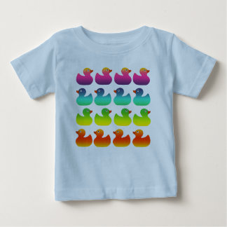 Rainbow Rubber Duckies Baby T-Shirt