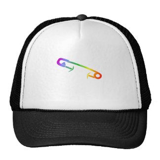 Rainbow Safety Pin Movement Trucker Hat