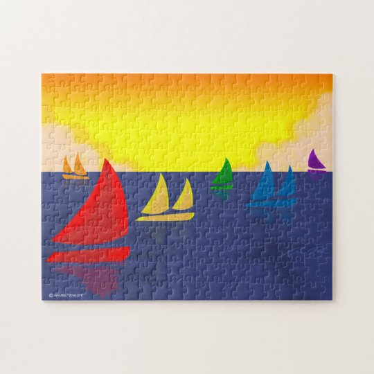 Rainbow Sailboats Puzzle