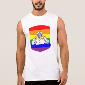 Rainbow Sailor Sleeveless Shirt