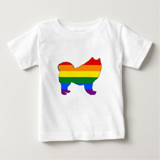 Rainbow Samoyed Baby T-Shirt