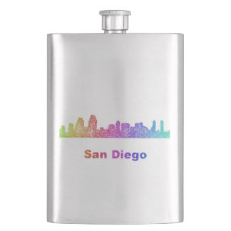 Rainbow San Diego skyline Flasks