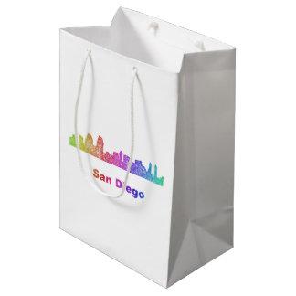 Rainbow San Diego skyline Medium Gift Bag