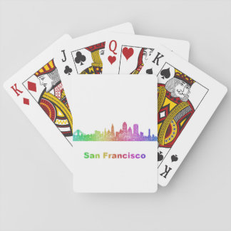 Rainbow San Francisco skyline Playing Cards