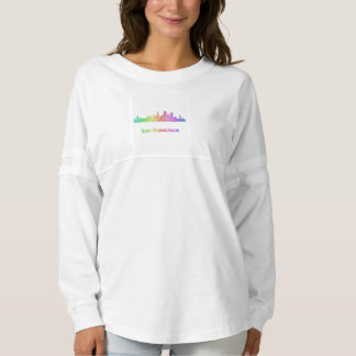 Rainbow San Francisco skyline Spirit Jersey
