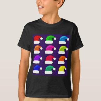 Rainbow Santa Hat T Shirts
