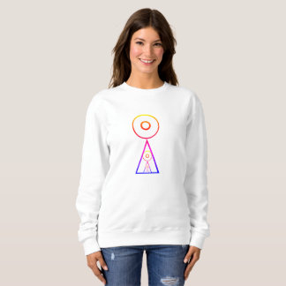 Rainbow Saturn Sifting SweatShirt  Women Comfort