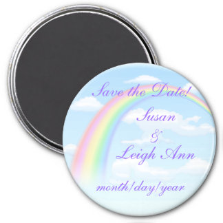 Rainbow Save the Date! Magnet