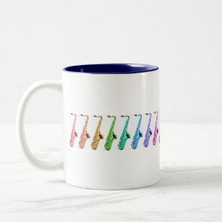Rainbow Saxophones Mug