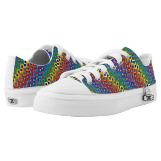 Rainbow scale shoes. Low-Top sneakers