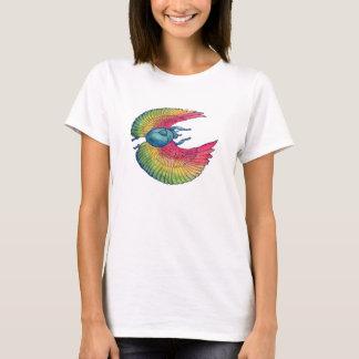 Rainbow Scarab Babydoll Ladies Shirt