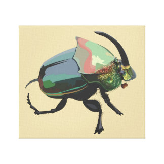 Rainbow Scarab Canvas Print