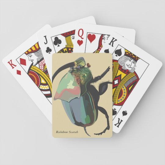 Rainbow Scarab Playing Cards