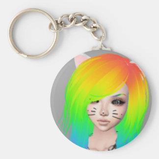 Rainbow Scene Queen keychain