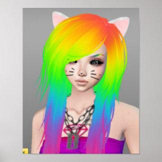 Rainbow Scene Queen Poster