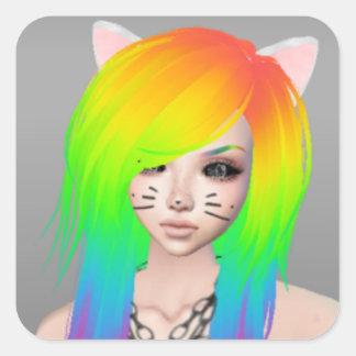 Rainbow Scene Queen Stickers