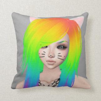 Rainbow Scene Queen Throw pillow