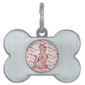 Rainbow Scooby-Doo Pet Name Tag