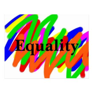 Rainbow Scribble Equality postcard
