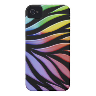 Rainbow Scribble Funky Black iPhone 4 Covers