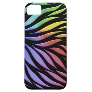Rainbow Scribble Funky Black iPhone 5 Cases