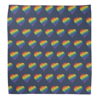 Rainbow scribble heart bandana