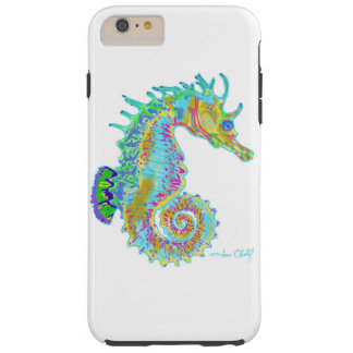 Rainbow seahorse phone case