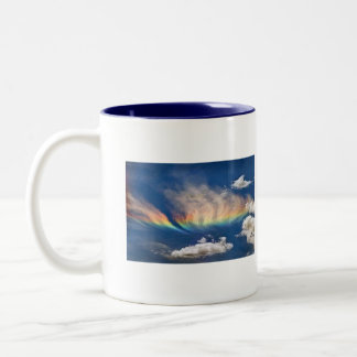 Rainbow, Serenity Prayer Two-Tone Coffee Mug