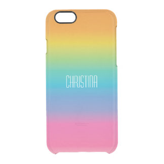 Rainbow Shade Gradient Clear iPhone 6/6S Case