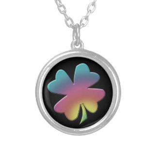 Rainbow Shamrock Necklace