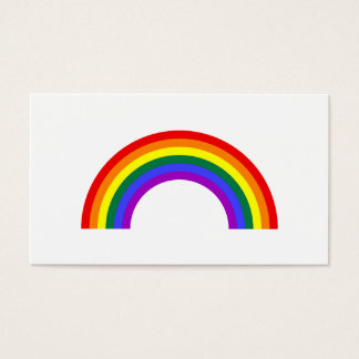 Rainbow Shape Business Card