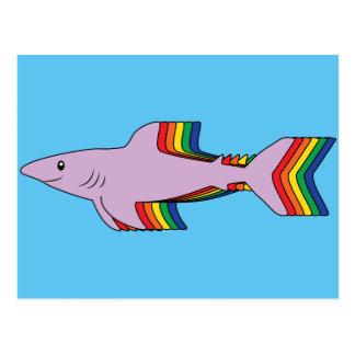 Rainbow Shark Postcard