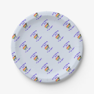 Rainbow Sheep of the Family Paper Plate