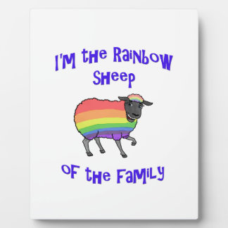 Rainbow Sheep of the Family Plaque