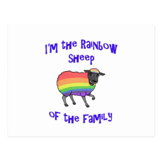 Rainbow Sheep of the Family Postcard