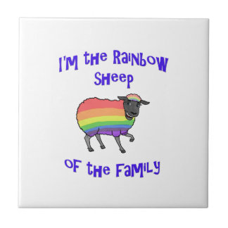 Rainbow Sheep of the Family Tile