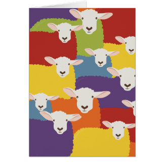 Rainbow | Sheep | overlapping design Card