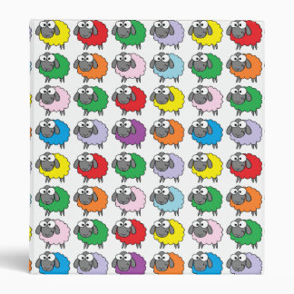 Rainbow Sheep Vinyl Binder