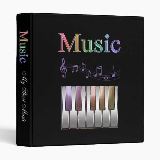 Rainbow Sheet Music Binder