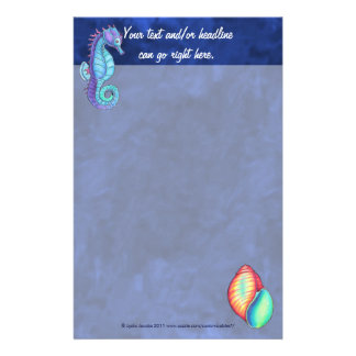 Rainbow Shell & Sea Horse Stationery