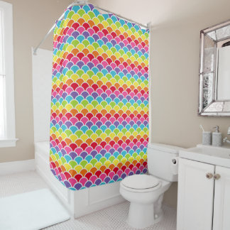 Rainbow Shells Shower Curtain