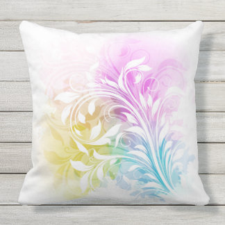 Rainbow Sherbet Abstract Swirls by apassion4pixels Throw Pillow