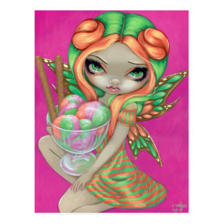 """Rainbow Sherbet Fairy"" Postcard"