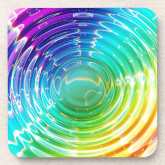 Rainbow Shockwave Beverage Coasters