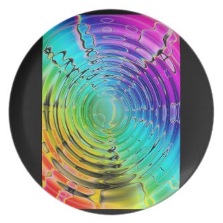 Rainbow Shockwave Party Plate