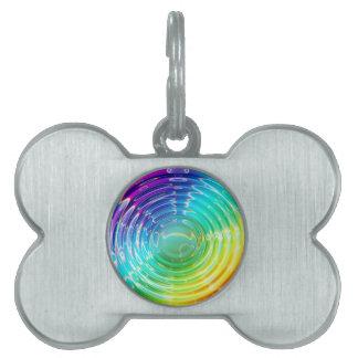 Rainbow Shockwave Pet Tag