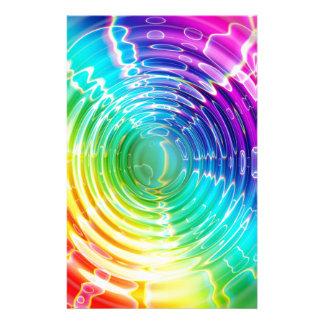 Rainbow Shockwave Stationery Design
