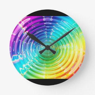 Rainbow Shockwave Wall Clocks