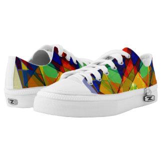 Rainbow Shoes - stylish white and multicolour
